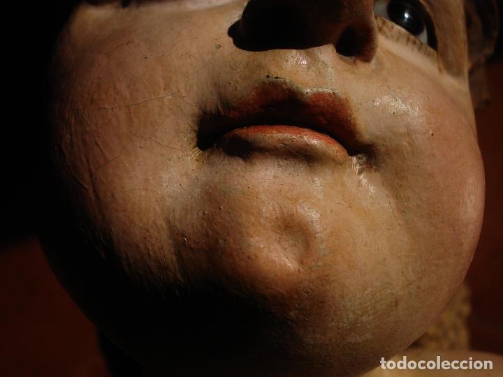 Arte: ANGEL LACERANTE SXVIII TALLA DE MADERA POLICROMADA OJOS DE CRISTAL - Foto 5 - 63458932