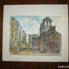 Arte: GRABADO - SAN PABLO DEL CAMPO - BARCELONA. Lote 63468552