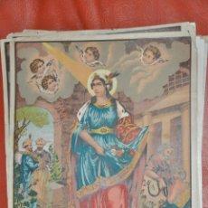 Arte: SANTA CASILDA , LITOGRAFIA POSIBLEMENTE DE RAFAEL ALCALÁ , MÁLAGA . Lote 63527500