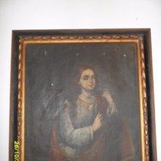 Arte: SIGLO XVII BONITO CUADRO RELIGIOSO DE UNA SANTA.. Lote 63769587