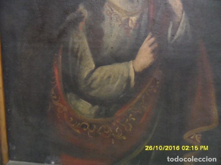 Arte: SIGLO XVII BONITO CUADRO RELIGIOSO DE UNA SANTA. - Foto 4 - 63769587