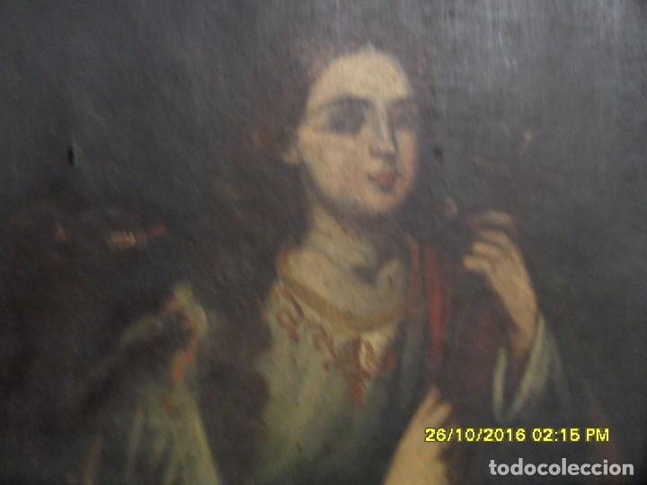 Arte: SIGLO XVII BONITO CUADRO RELIGIOSO DE UNA SANTA. - Foto 5 - 63769587