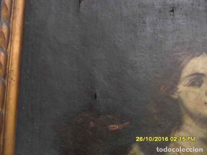 Arte: SIGLO XVII BONITO CUADRO RELIGIOSO DE UNA SANTA. - Foto 10 - 63769587