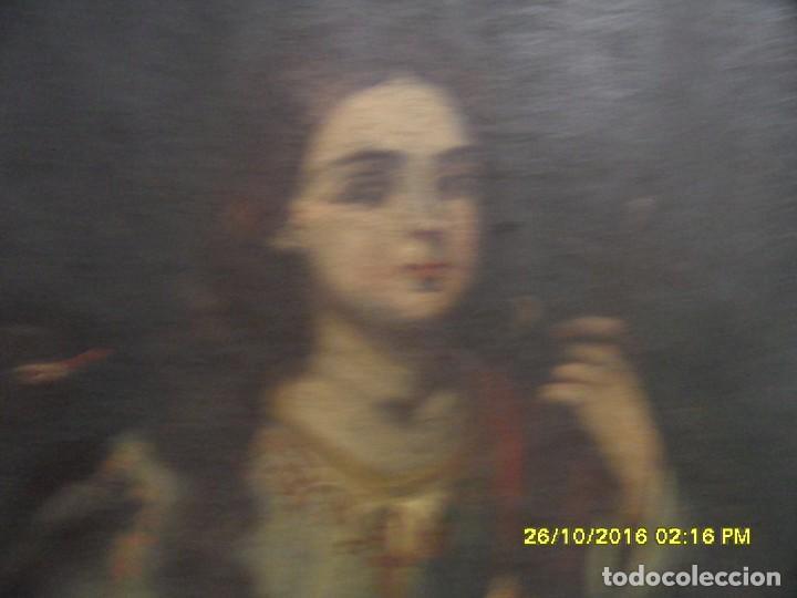 Arte: SIGLO XVII BONITO CUADRO RELIGIOSO DE UNA SANTA. - Foto 11 - 63769587