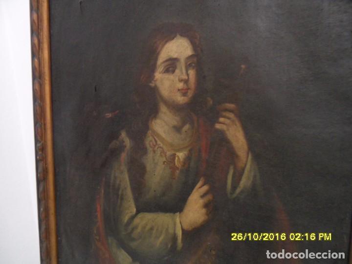 Arte: SIGLO XVII BONITO CUADRO RELIGIOSO DE UNA SANTA. - Foto 12 - 63769587