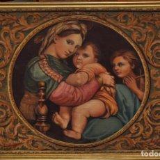 Arte: BONITA OBRA DE LA ARTISTA MONTSERRAT PUIGDELLIVOL. AÑO 1926. MADONNA SEGUN RAFAEL SANZIO. Lote 65910341
