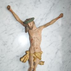 Arte: IMPRESIONANTE JESUS BARROCO PARA CUZ DE 1 M. -SIGLO XVII. MADERA TALLADA POLICROMADA GRAN TAMAÑO 458. Lote 63818347
