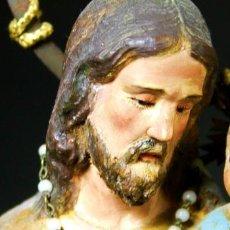 Arte: SAN JOSÉ CON NIÑO JESÚS. MADERA TALLADA. POLICROMÍA ORIGINAL. ESPAÑA. XIX.. Lote 63903119