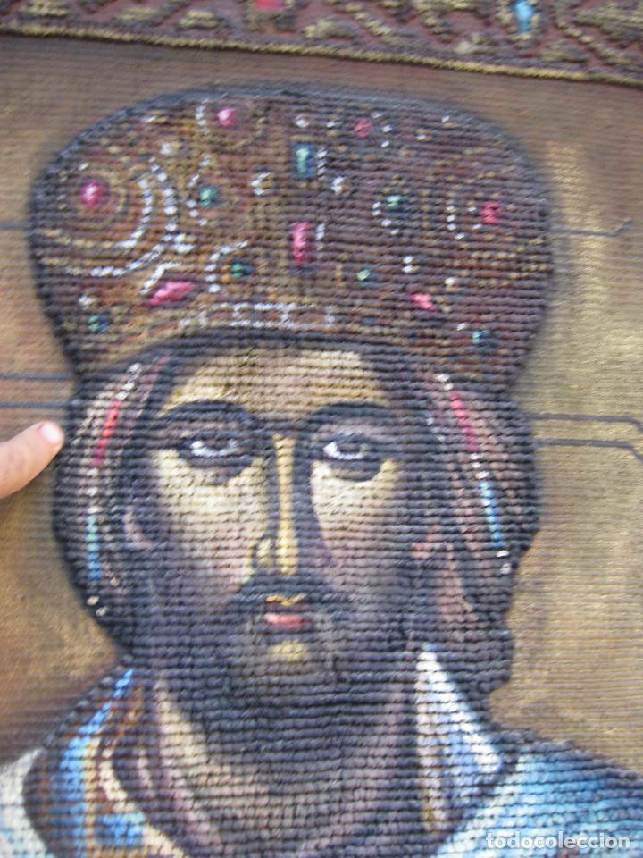 Arte: AÑOS 30 CRISTO BIZANTINO ICONO RUSO JESUCRISTO ORTODOXO OLEO TAPIZ a.jaime m.puche madrid TALLERES - Foto 3 - 64116471