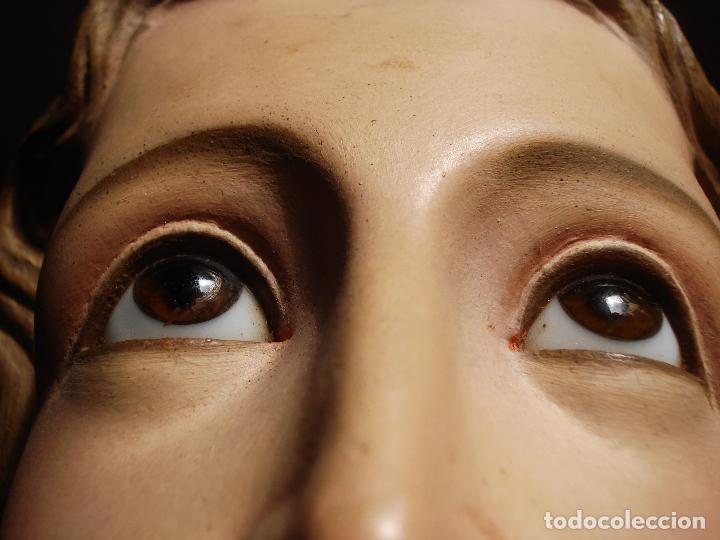 Arte: INMACULADA CONCEPCIÓN ANTIGUA TALLA DE MADERA DORADA AL ORO FINO - Foto 4 - 49069706