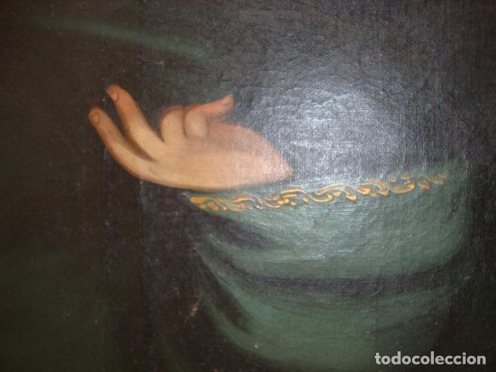 Arte: Oleo sobre lienzo de Jesus siglo XIX - Foto 5 - 64507999
