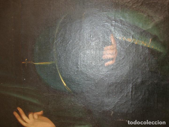 Arte: Oleo sobre lienzo de Jesus siglo XIX - Foto 6 - 64507999