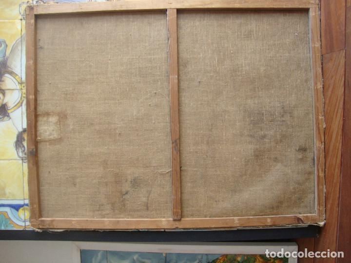 Arte: Oleo sobre lienzo de Jesus siglo XIX - Foto 7 - 64507999