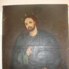 Arte: OLEO SOBRE LIENZO DE JESUS SIGLO XIX. Lote 64507999