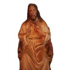 Arte: ANTIGUO CRAZÓN DE JESÚS, NÚMEROS, INSCRIPCIÓN, TIPO OLOT. Lote 64591487