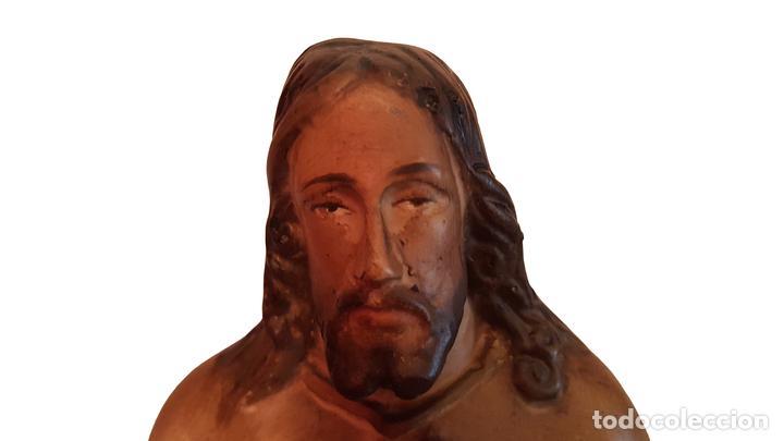 Arte: antiguo Crazón de Jesús, números, inscripción, tipo olot - Foto 3 - 64591487