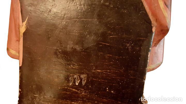 Arte: antiguo Crazón de Jesús, números, inscripción, tipo olot - Foto 4 - 64591487