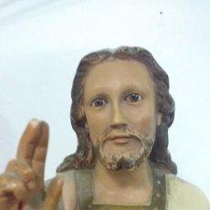 Arte: SAGRADO CORAZÒN DE JESUS ENTRONIZADO 1930 DE OLOT. Lote 64621159