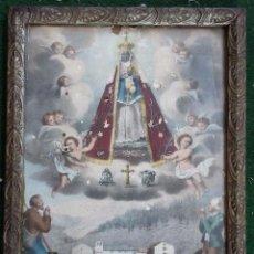 Arte: LITOGRAFÍA ORIGINAL DE LA VIRGEN DE NÚRIA - FINALES S.XIX. Lote 64789651