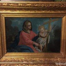 Arte: EXTRARODINARIO VIDRIO PINTADO S. XVIII , ESC ITALIANA. Lote 64794707