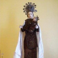 Arte: VIRGEN DEL CARMEN CON NIÑO JESÚS CAP I POTA...VESTIDERA SIGLO XVIII-XIX. Lote 51654330
