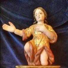 Arte: ANGEL TALLA MADERA POLICROMADA S.XVII. Lote 64983503