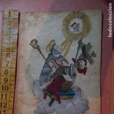 Arte: MUY ANTIGUO GRABADO COLOREADO, ORIGINAL - S. BERNARDUS ABBAS DOCTOR MELLIFLUUS . 16 24 SAN BERNARDO . Lote 64992163