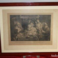 Arte: J3-036. SOO D'OUDE SONGEN. GRABADO CON PLANCHA ORIGINAL DE BOLSWERT. HOLANDA(?) FIN XIX.. Lote 64692811