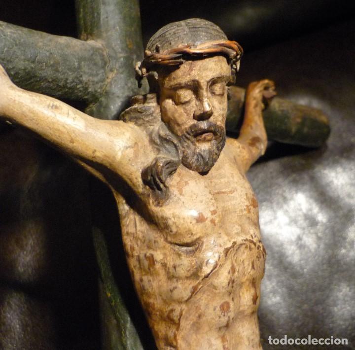 Arte: CRISTO EN LA CRUZ. ESCUELA ANDALUZA DEL S.XVIII - Foto 5 - 65102275