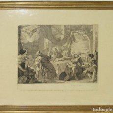Arte: J2-006. GRABADO. JESÚS EN EMAÚS. JOSEF DEL CASTILLO. 1778. Lote 44579914