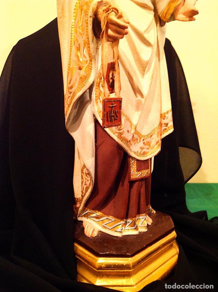 Arte: Antigua Virgen Del Carmen Con Niño XIX Altura 50cm - Foto 2 - 65666646