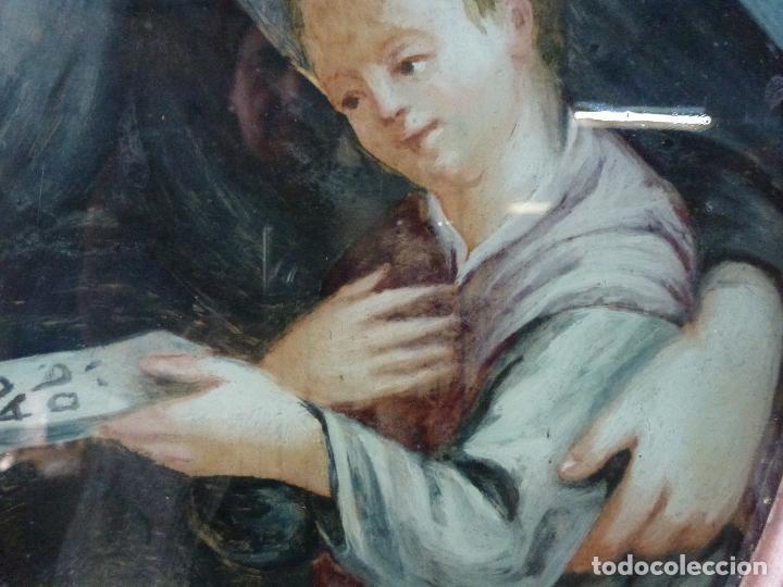 Arte: San Antonio, Antigua pintura sobre cristal - Foto 4 - 112222518