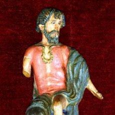 Arte: SAN JUAN BAUTISTA(?). MADERA TALLADA Y POLICROMADA. ESPAÑA. XVIII-XIX. Lote 65828654