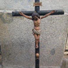 Arte: TALLA MADERA CRISTO CRUCIFICADO SIGLO XVII. Lote 65852690