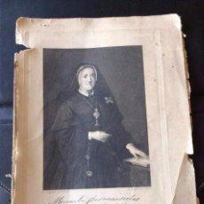 Arte: MAURA BARTOLOMÉ -GRABADO PINTADO POR L. MADRAZO Y GRABADOR B.MAURA REALIZADO EN 1902 . Lote 66512294
