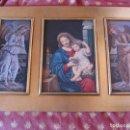 Arte: ANTIGUO TRIPTICO CUADRO CON MOTIVOS RELIGIOSOS. Lote 66698918