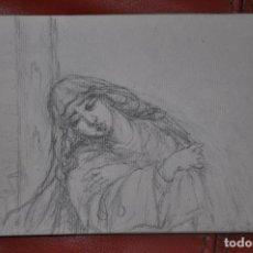 Arte: DIBUJO BOCETO ORIGINAL DE TEMA RELIGIOSO POSIBLEMENTE DE MÁLAGA O SEVILLA DE 1960 APROX. Lote 66724610