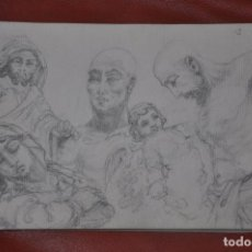 Arte: DIBUJO BOCETO ORIGINAL DE TEMA RELIGIOSO , MALAGA O SEVILLA DE 1960 APROX , SEMANA SANTA VIRGEN. Lote 66734726
