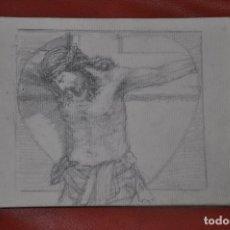 Arte: DIBUJO BOCETO ORIGINAL DE TEMA RELIGIOSO , MALAGA O SEVILLA DE 1960 APROX , SEMANA SANTA CRISTO. Lote 66740930