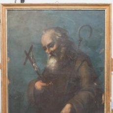 Arte: ANTIGUO Y PRECIOSO OLEO S/ LIENZO. SAN FRANCISCO DE PAULA. SIGLO XVIII. Lote 66833786