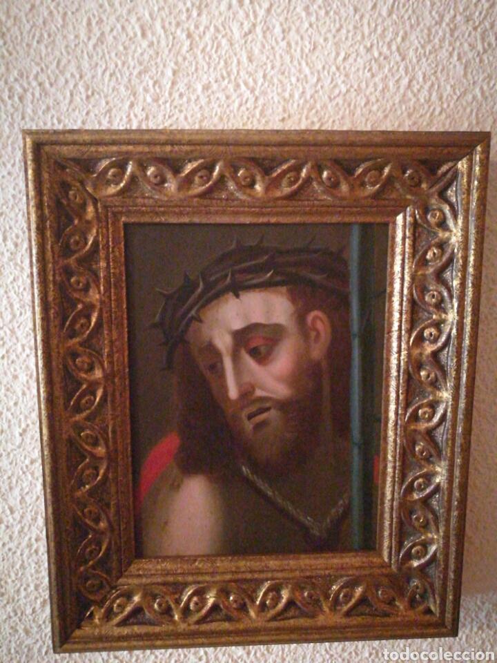 ECCE HOMO. OLEO SOBRE COBRE, SIGLO XVII. (Arte - Arte Religioso - Pintura Religiosa - Oleo)