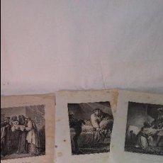 Arte: ANTIGUO LOTE COLECCION DE GRABADOS LAMINAS RELIGIOSAS, ENTRAN TODAS. Lote 66864586