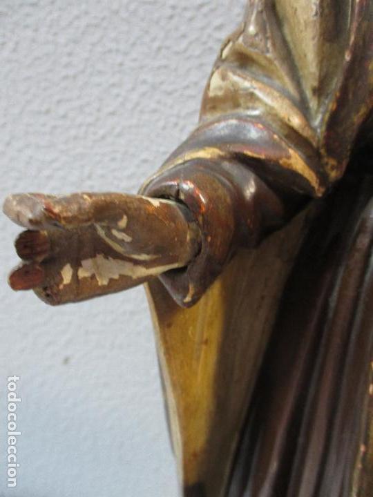 Arte: Antigua Virgen del Carmen - Barroca - Talla de Madera, Policromada y Dorada - 48 cm Altura -S. XVIII - Foto 8 - 66936970