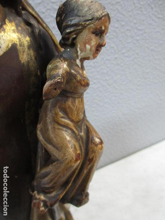 Arte: Antigua Virgen del Carmen - Barroca - Talla de Madera, Policromada y Dorada - 48 cm Altura -S. XVIII - Foto 10 - 66936970