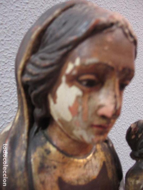 Arte: Antigua Virgen del Carmen - Barroca - Talla de Madera, Policromada y Dorada - 48 cm Altura -S. XVIII - Foto 14 - 66936970