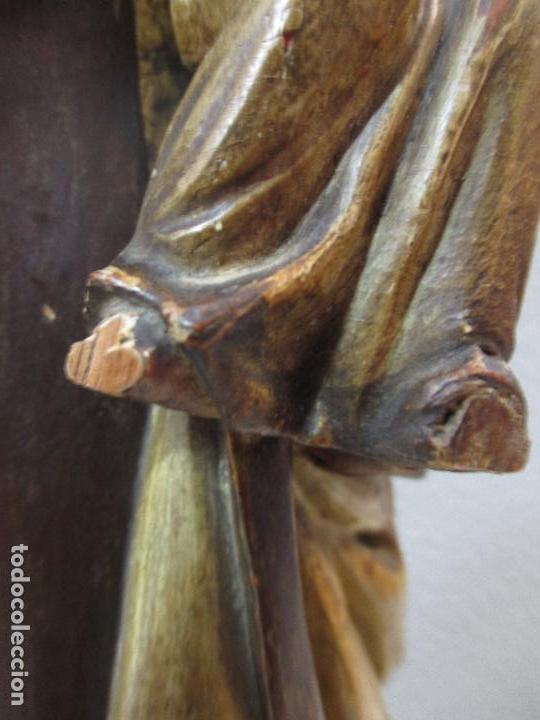 Arte: Antigua Virgen del Carmen - Barroca - Talla de Madera, Policromada y Dorada - 48 cm Altura -S. XVIII - Foto 15 - 66936970