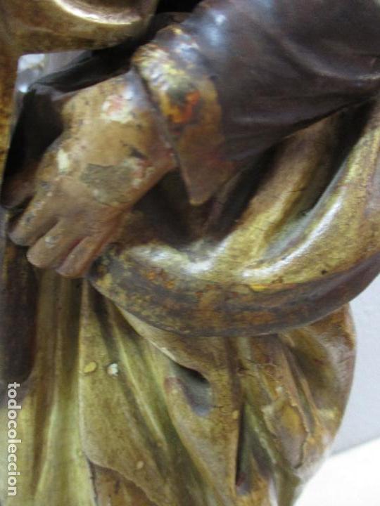 Arte: Antigua Virgen del Carmen - Barroca - Talla de Madera, Policromada y Dorada - 48 cm Altura -S. XVIII - Foto 20 - 66936970