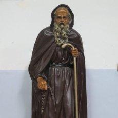 Arte: MUY ANTIGUA Y GRAN IMAGEN DE SANTO DOMINGO DE LA CALZADA DE ESCAYOLA. TAMAÑO GRANDE. PPIOS. S. XX. Lote 67120689