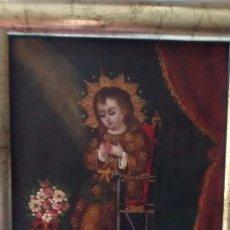 Art: ÓLEO NIÑO JESÚS ESCUELA CUZQUEÑA. Lote 252366315