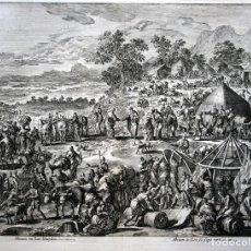 Arte: 1729 -GRABADO BIBLIA - ABRAHAM Y LOT SE SEPARAN - LUYKEN - GRABADO - 58X52CM - COVENS ET MORTIER. Lote 67320753